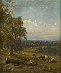 a view over dublin from kinsealy by william mcevoy