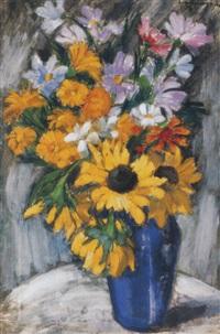 kékvázás csendélet (still life with a blue vase) by jenö gadányi