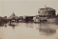 the tiber and the castel sant'angelo, rome (3 works) by tommaso cuccioni