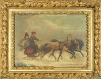 winter traveling by adolphe josefovich charlemagne