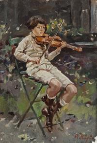 piccolo violinista by raffaele ragione