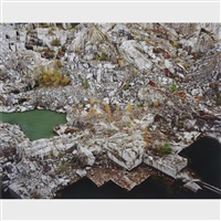 rock of ages #24, abandoned section, rock of ages quarry, barre, vermont by edward burtynsky
