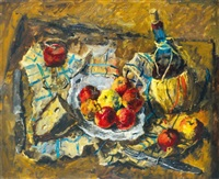 apples and red wine by andor basch