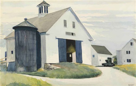 barn at essex by edward hopper