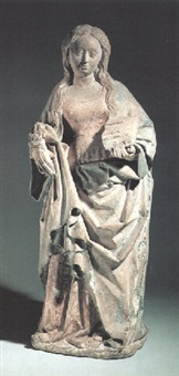 figure of a female saint (saint dorothea?) by french school-northern (15)