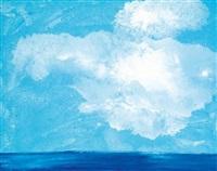 nuage sur la mer by miquel barceló
