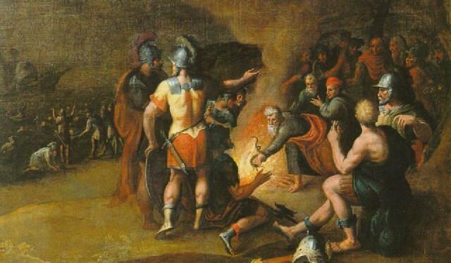 Saint Paul Bitten By A Snake On The Island Of Malta Hans Jordaens Elder