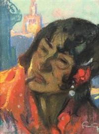 l'espagnole fumant by mariano fortuny y de madrazo