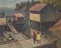 port washington, gov't wharf by henry george glyde