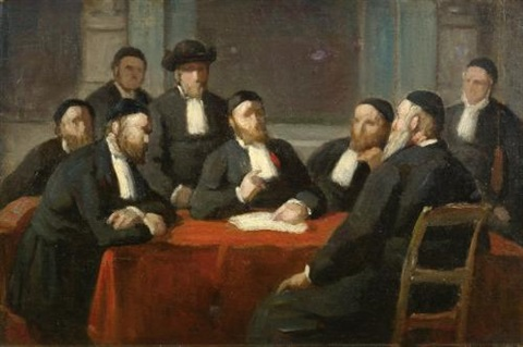 a meeting of the rabbinical council by edouard moyse