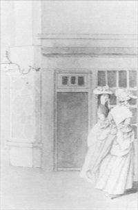 two ladies passing a shop by anthony highmore