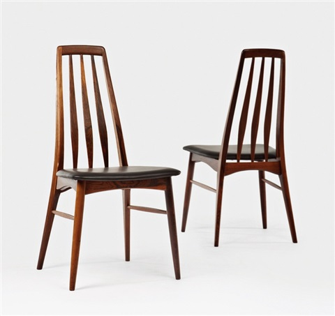 Awesome Eva Dining Chairs Pair By Niels Kofoed On Artnet Creativecarmelina Interior Chair Design Creativecarmelinacom
