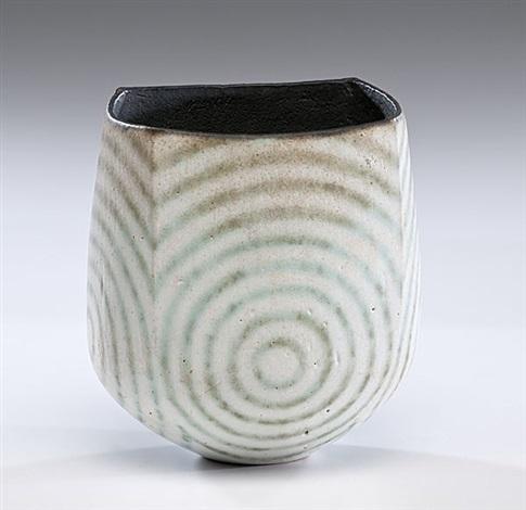 vase with green circles by john ward