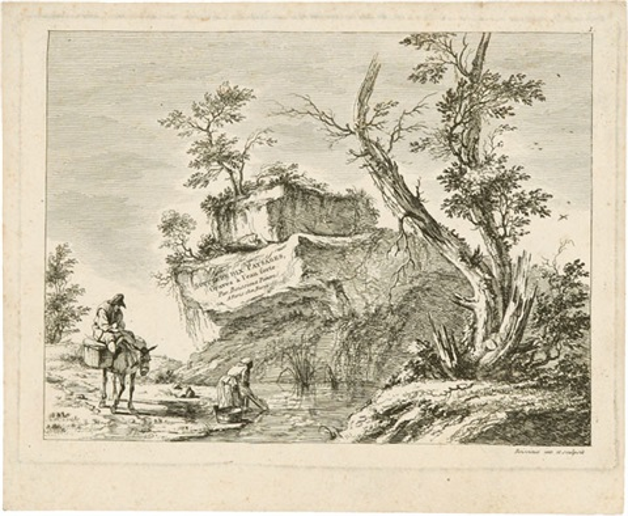 suite de dix paysages gravés à leau forte par boissieu peintre set of 8 by jean jacques de boissieu