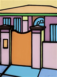 front gate and home by howard arkley
