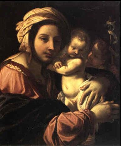 madonna col bambino e san giovannino by domenico maria canuti