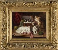 chatons dans un panier by jules leroy