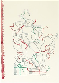 christmas wrapping (modern laocoön) by r.o. blechman