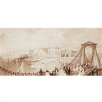 brighton (from the chain pier) by thomas allom