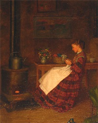 awaiting afternoon tea by william henry snyder