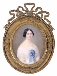 femme au ruban bleu by louise dujardin