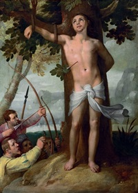the miracle of saint sebastian by cornelis cornelisz van haarlem