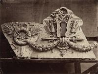 group of 3 plates from the series le nouvel opéra de paris (3 works) by louis emile durandelle