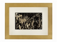 untitled (figures walking) by max weber
