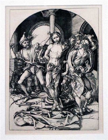 flagellation of christ by martin schongauer