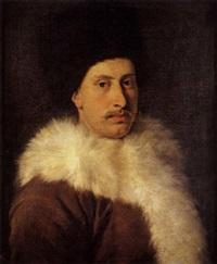 portrait d'un gentilhomme au col de fourrure by andrea soldi