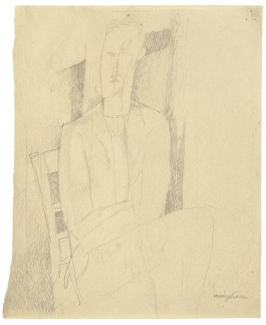 portrait dhomme by amedeo modigliani