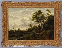 landscape with figures along the creek by patrick nasmyth