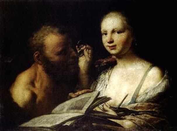 scène de lecture by giuseppe angeli