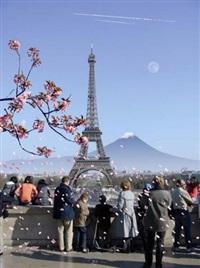 paysage 29 (cherry blossom eiffel 1) by alain bublex