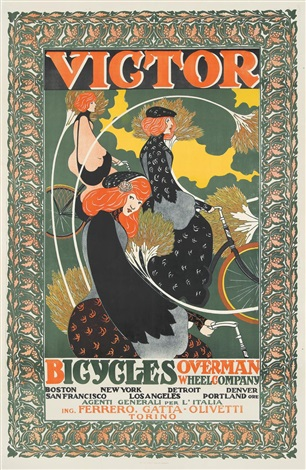 Victor Bicycles Overman Wheel Co By William H Bradley On Artnet