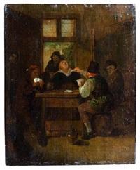 joueurs de cartes dans une taverne by bartholomeus molenaer
