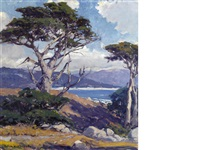the sentinel, monterey coast by arthur hill gilbert