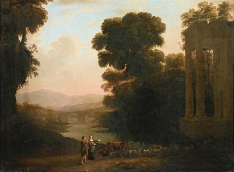 paysage ditalie by claude lorrain