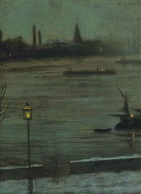 thames nocturne: battersea reach from cheyne walk by walter greaves