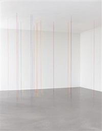 broadway boogie woogie (sculptural study, twenty-two part vertical construction) by fred sandback
