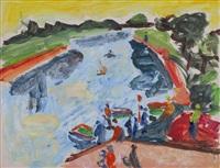 yarkon river by shimshon holzman