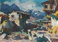 himalayan landscape by walter langhammer
