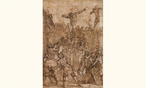la crucifixion by giulio benso