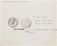 two works: (i) medaillenentwurf eduard vogel (design for a medal); (ii) seeleute (people of the sea) by max klinger