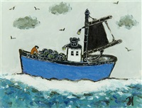 fishing boat by joan gillchrest