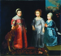 three children with their dog by dutch school (18)