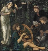 the madness of sir tristram by edward burne-jones