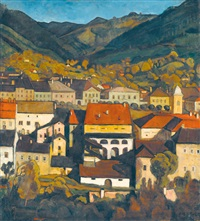 view of a hick-town by jenö gábor
