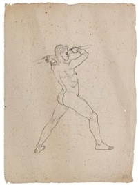 Standing Male Nude, 1914
