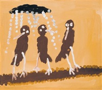 blackbirds in the rain by patsy lulpunda anguburra